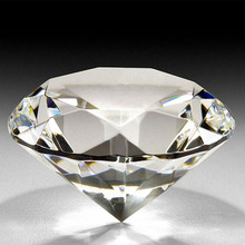 1Pcs 50mm Quartz Crystal Glass Diamond Paperweight Fengshui Crafts Arts&Collection Home Decor Ornaments Wedding Souvenir Gifts
