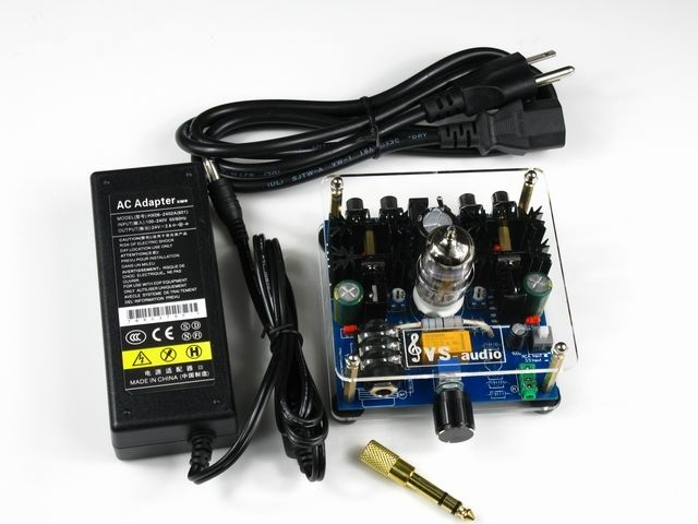 12AU7 Tube Headphone Amplifier Board with adapter DC 24V 20 Hz-20 KHz appj hpa headphone amplifier adapter