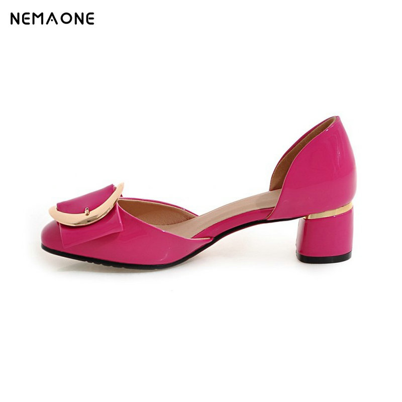 NEMAONE 2017 New fashion women shoes low heel shoes woman square toe summer shoes zapatos mujer large size 34-43 nemaone 2017 new elegant women pumps poined toe low heels women shoes office lady dress shoes zapatos mujer large size 34 43