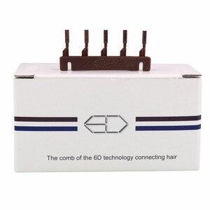 Image 5 - 40pcs/lots 6D2 buckle for 2nd generation 6D hair extension machine   hair extension clip 6D2 hair extension tool 6D2 hair buckle