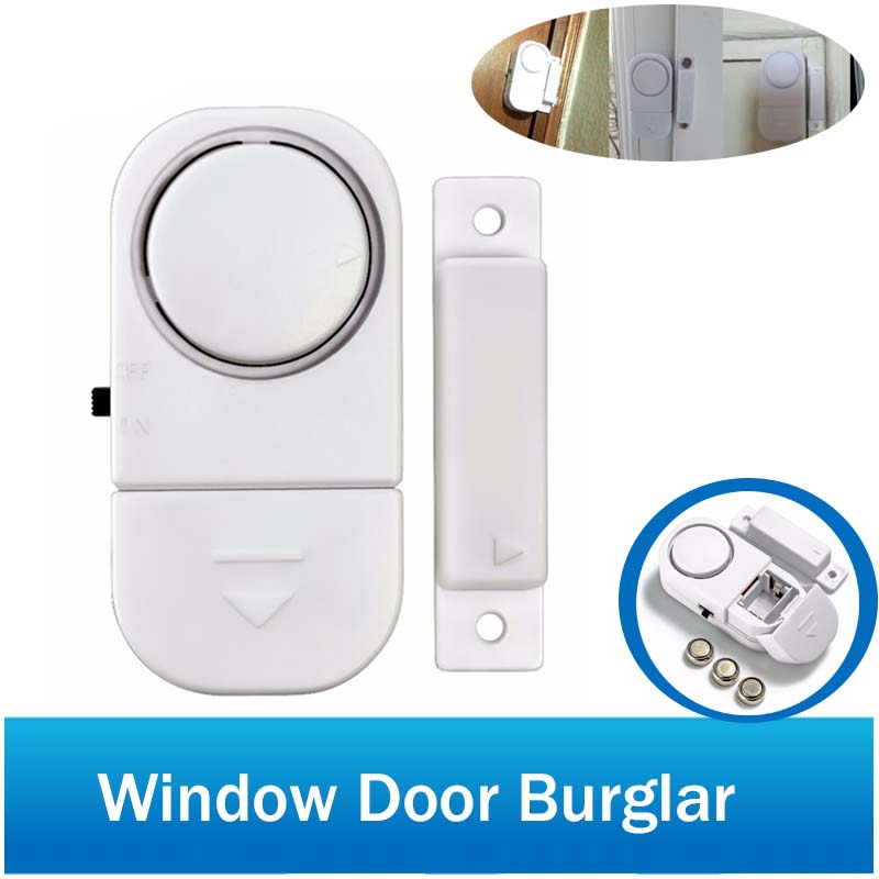 Wireless Home Window Door Entry Burglar 90dB Standalone Magnetic Sensors Security Alarm Guardian System self adhesive wireless magnetic sensor home door window entry burglar security alarm safety guardian protector system white new