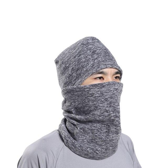 a881c98cff0 Warm Motorcycle Headgear Balaclava Hat Scarf Face Mask Winter Cationic  Fabric Head Cover Full Headcloth Cycling Racing Bike New