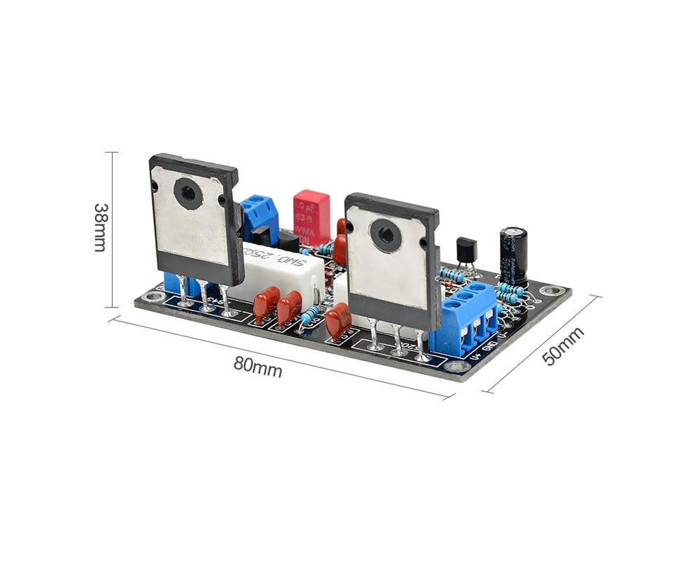 100W 2SC5200+2SA1943 Audio Amplifier Board HIFI Mono Channel Dual DC35V  Speaker