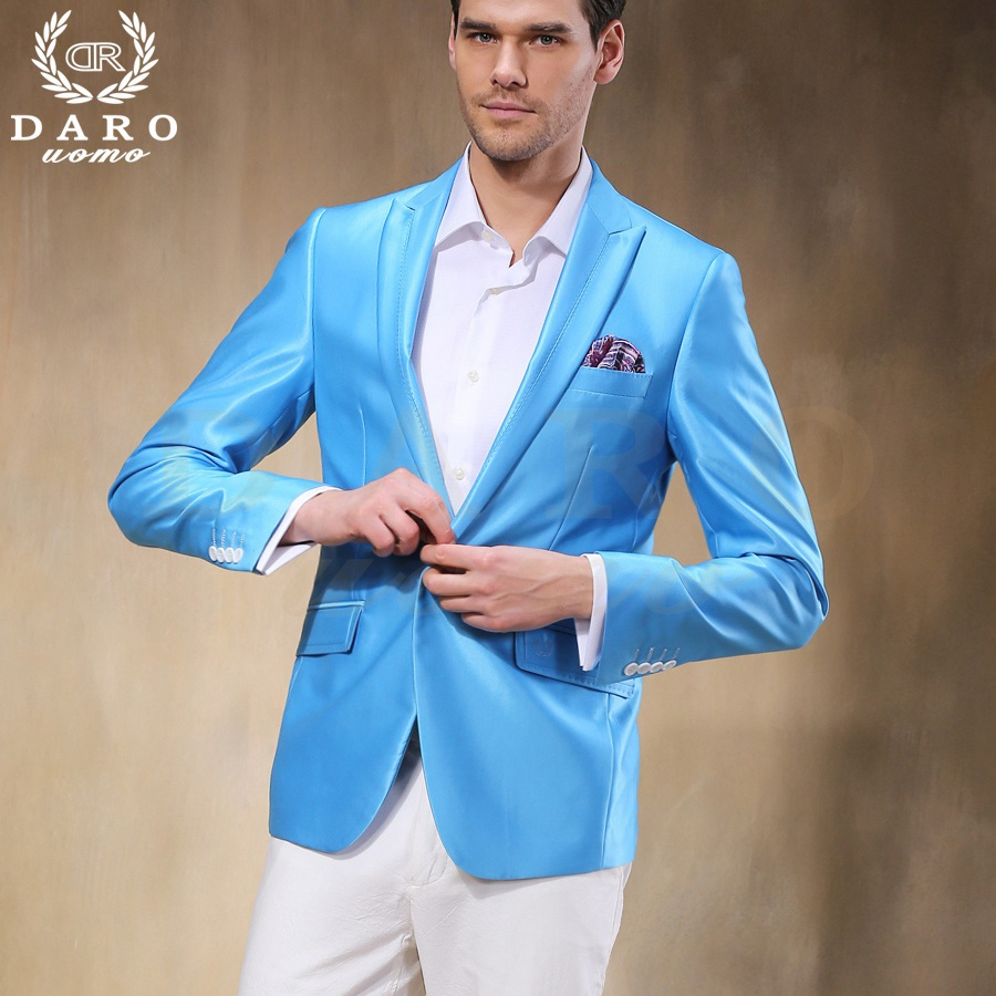 Brand DAROuomo Custom Made Men Suit Sky Blue Wedding Suits Groom ...