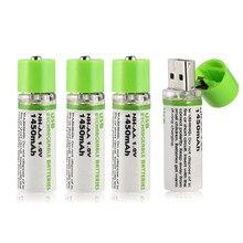 Высококачественный USB AA аккумулятор 1,2 в 1450 мАч Ni MH перезаряжаемая батарея светодиодный индикатор зарядки светильник розничной коробкой