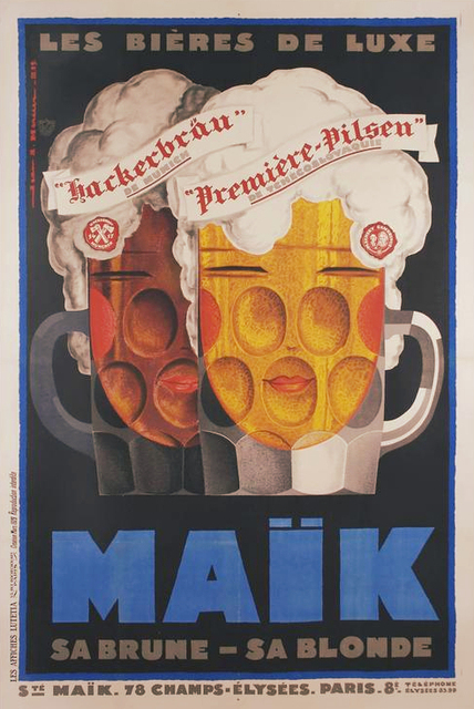 Retro Advertising Posters MALK Beer Wine Ads Classic Wall Sticker Canvas Paintings Decorative Vintage Poster Home