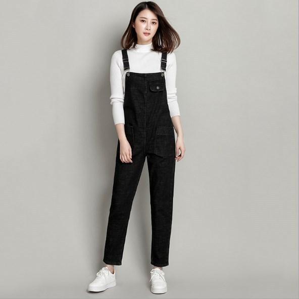 2c8133858615 Women Jeans Jumpsuits Loose Strap Rompers Casual Long Trousers Denim  Overalls Fashion Suspenders Pants Black Blue Plus Size 6XL