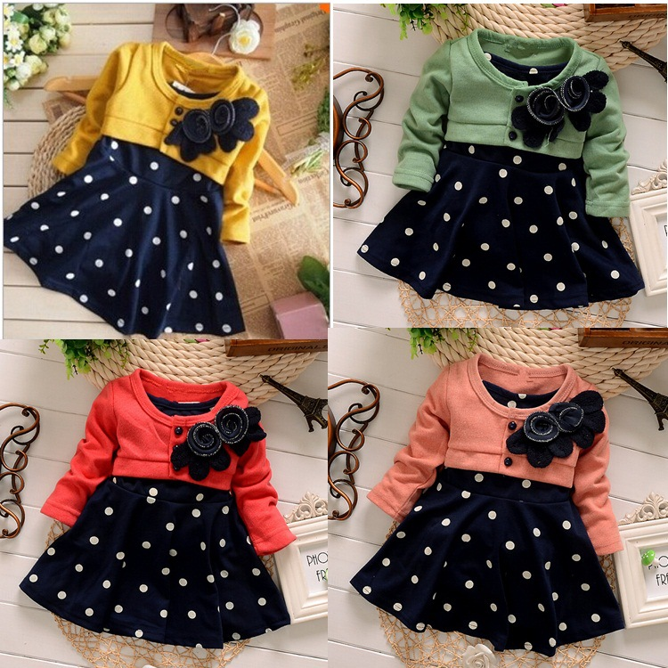 1ae851d9f New fashion 100% Cotton Baby Girl Christmas Dresses Kids Children s ...