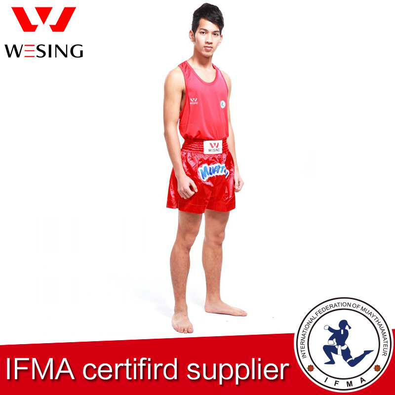 Wesing Muay Thai Suits For Professional Athletes With Large Size Muay Thai Uniform MMA Competition T-shirt Shorts For Men