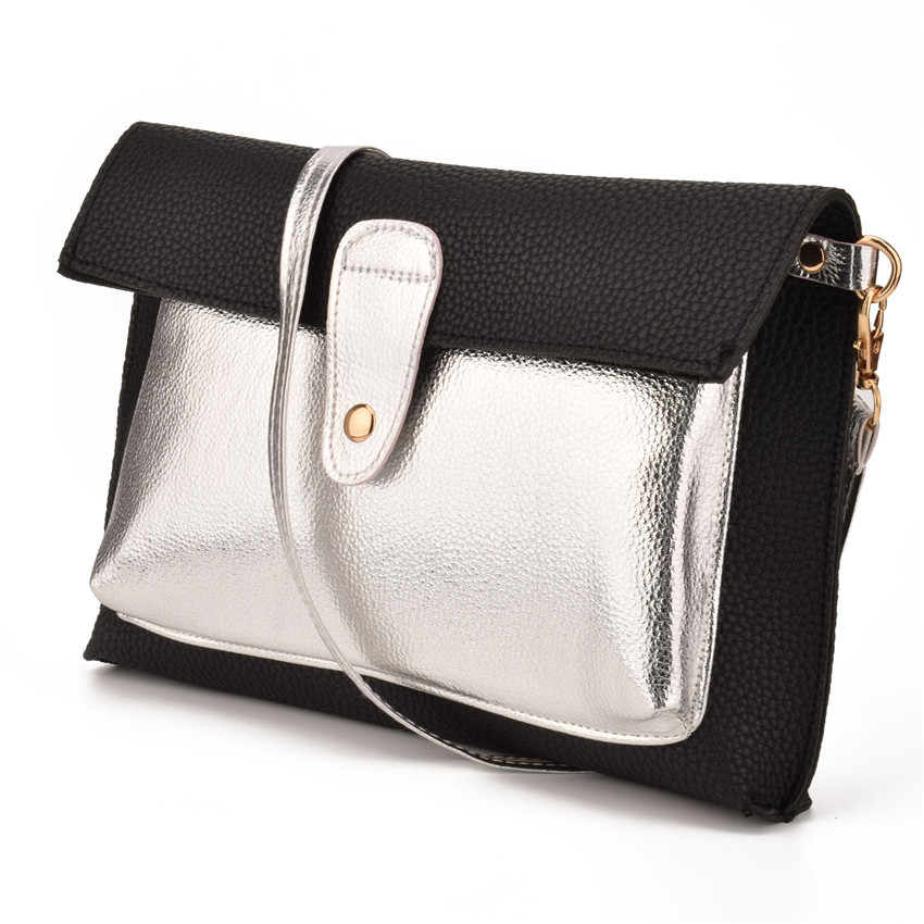 JIARUO Hit Color Leather Envelope Handbags Crossbody bag For Women Shoulder  bag Messenger bags Zipper Design Vintage Purses-in Shoulder Bags from  Luggage ... 9c072ad3389ee