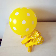 Yellow balloons 50pcs / lot12 inch thick helium latex wave point ballon baby birthday party balloon decoration anniversaire