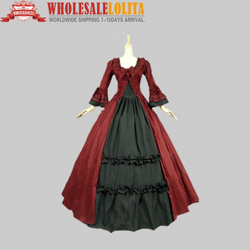Gothic Renaissance Victorian Steampunk Dress Gown Reenactment Costume Stage Dress Stage Ball Gowns