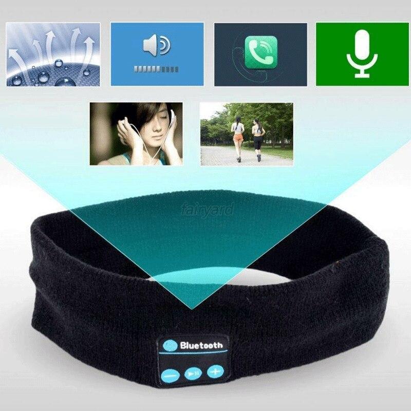 Bluetooth Sports Headband Hifi Headphones Wireless Earphone Stereo Headset Sleep Eye Mask Player With Mic 5