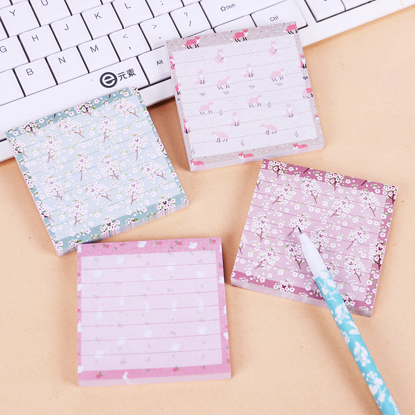 80 Pages Korean Cartoon Rabbit Sticky Notes Creative Post Notepad Filofax Memo Pads Office Supplies School Stationery