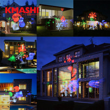 kmashi led laser projector light outdoor lighting christmas halloween decoration waterproof red laser light projection light eu - Lighted Halloween Decorations