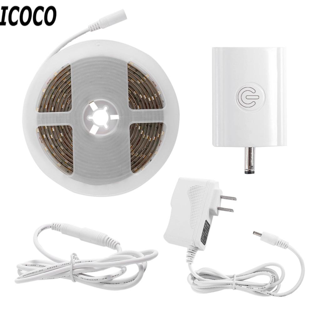 ICOCO LED Touch Sensor Strip LED Dimmable Cabinet Lighting Kit Flexible LED Light Decor Lamp For Festivals 3M 1.5A hot sales dc 12v 24v touch sensor control switch for 5050 3528 led strip light lighting l057 new hot