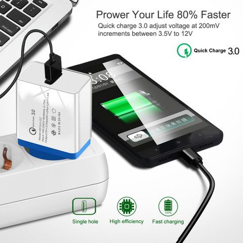 Universal 18 W USB Quick charge 3.0 5V 3A for Iphone 7 8 EU US Plug Mobile Phone Fast charger charging for Samsug s8 9 Huawei 2A Islamabad
