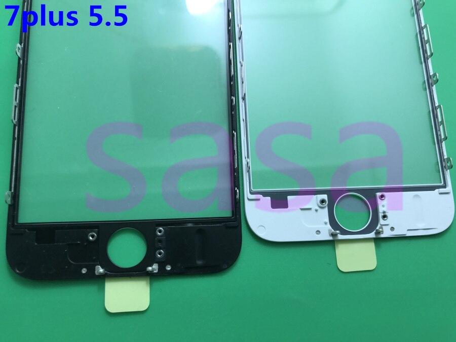 bilder für 50 teile/los Original 3 in 1 LCD Vordere Touchscreen Glas Äußere objektiv + oca kleber film für iphone 7 7 plus 5,5 zoll mit rahmen lünette