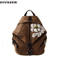 Backpack Chinese Style Backpack Women Casual Landscape National Hand Painted Versatile Vintage Concise Girl Bags A3527/k