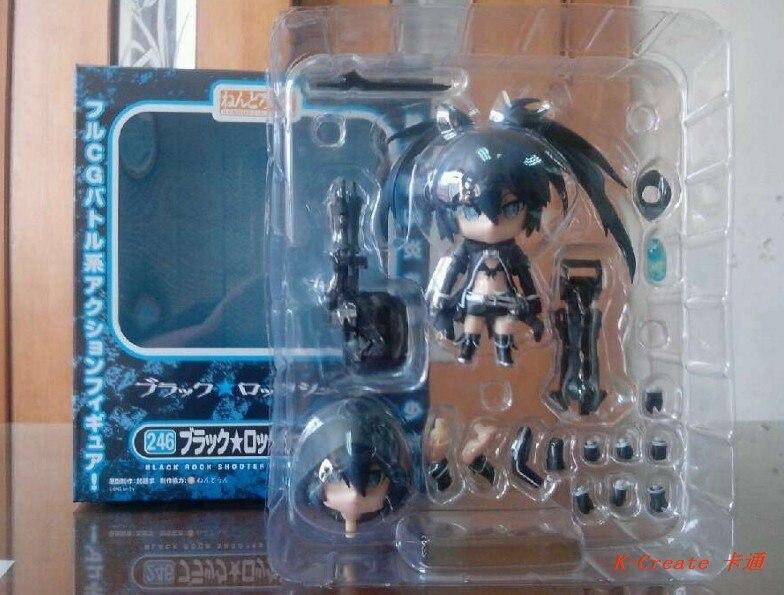 ФОТО Free shipping 1pcs Q version black rock shooter 246# pvc anime figure toy tall 20cm.1pcs newest Black Rock Shooter 246# supply