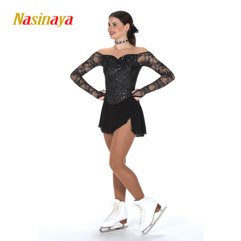 Nasinaya Figure Skating Dress Customized Competition Ice Skating Skirt for Girl Women Kids Patinaje Gymnastics Performance 274
