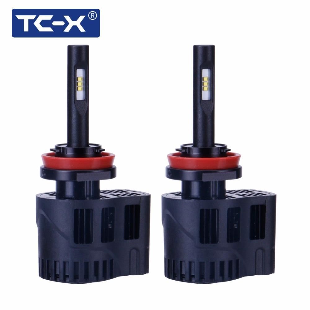 TC-X automobilové LED světlomety 5000K H11 LED 9006 HB4 9005 HB3 880 / H27 mlhové světlo Luxeon Z ES Nastavitelný úhel paprsku