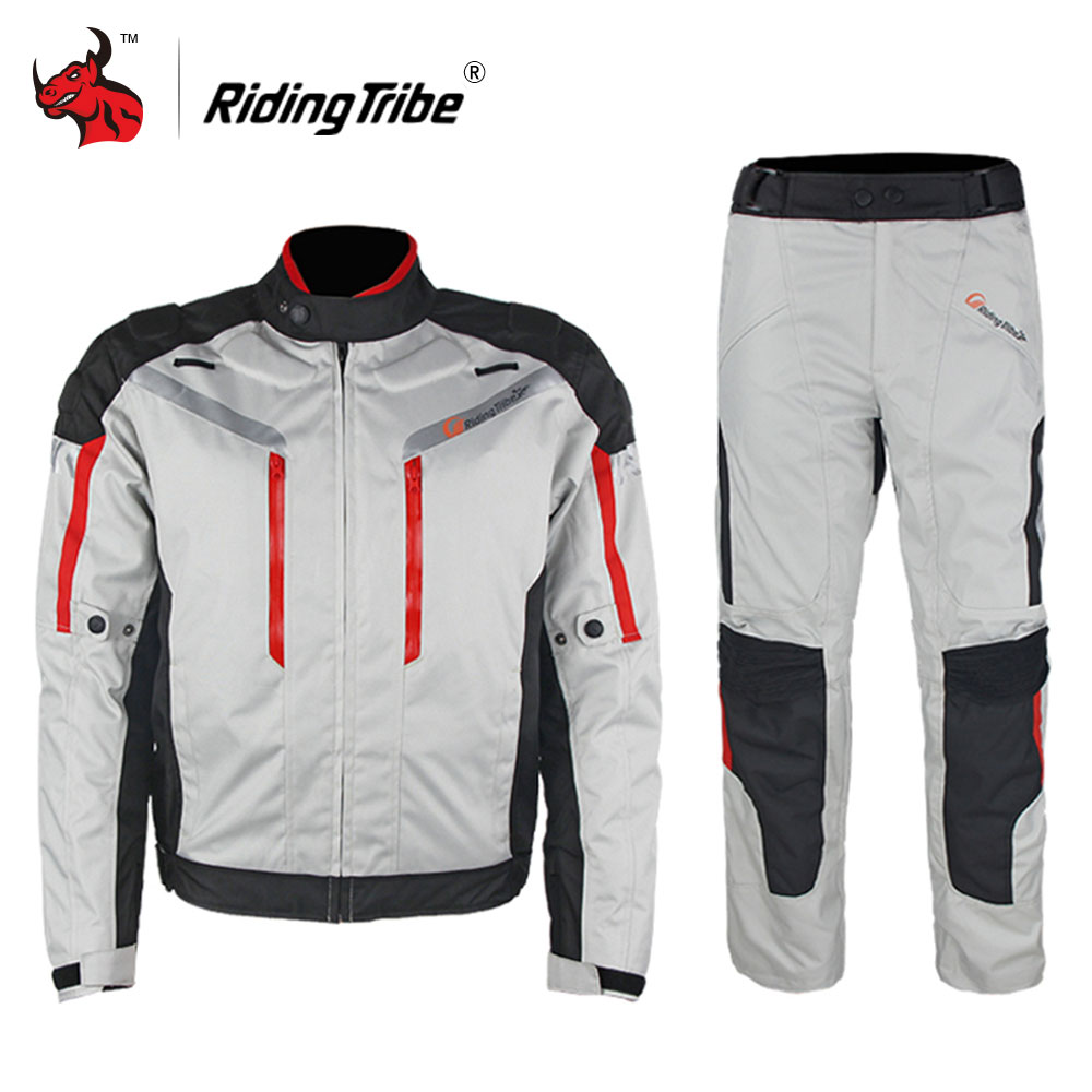 Riding Tribe Motorcycle Jacket Waterproof Moto Jacket Motocross Off-Road Racing Clothing Motorcycle Full Body Protective Gear riding tribe men motocross off road racing jacket motorcycle windproof waterproof riding travel clothing with 5 protective gear