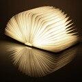 Складной СВЕТОДИОДНЫЙ Ночник Творческий ПРИВЕЛО Книга Свет Лампы Лучший Домашний Novelty Декоративные USB Аккумуляторная Лампы Теплый Белый