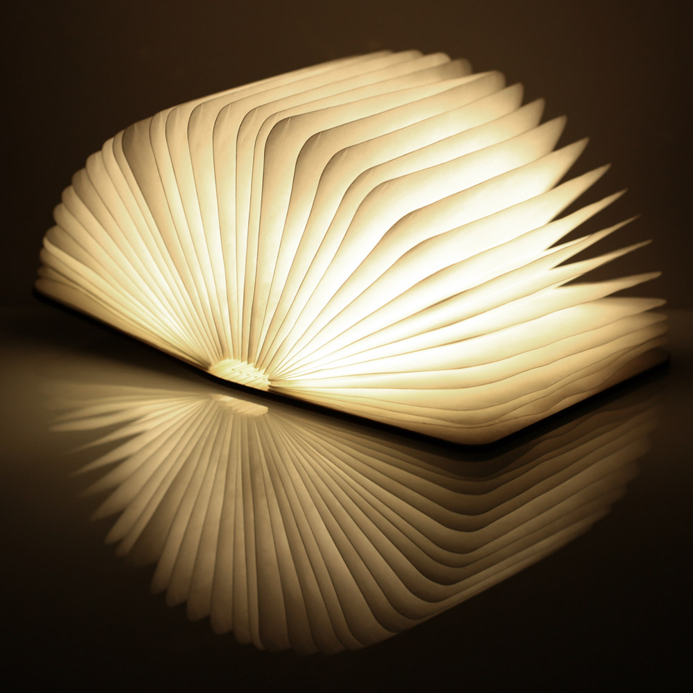Folding LED Nightlight Creative LED Book Light Lamp Best Home Novelty Decorative USB Rechargeable Lamps Warm White creative flip book page led nightlight