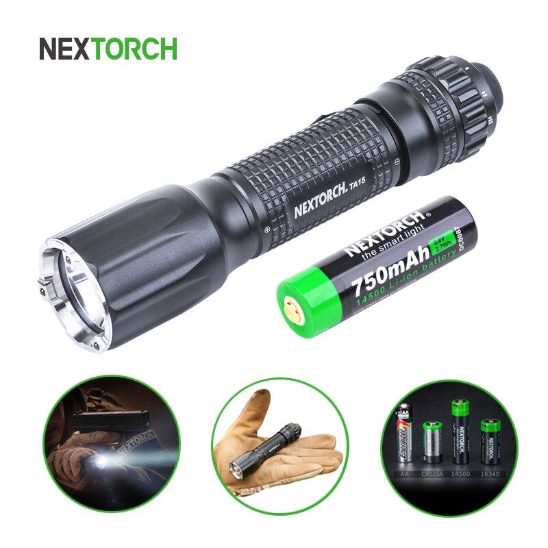 NEXOTRCH USB светодиодный фонарик тактический фонарь самообороны 600 люмен Водонепроницаемый 14500 мощный фонарик для охоты рыбалки