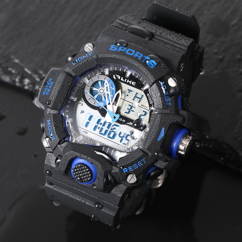 Fashion G Style Digital Klocka S Shock Men Militär Army Watch - Herrklockor