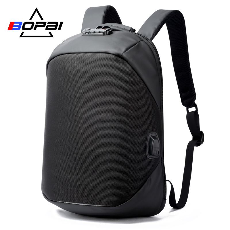 d6e90dffba6 BOPAI Luxury Coded Lock Backpack for Travelling Business Men's USB Charge  Port Backpack Anti Theft Women Backpack Waterproof