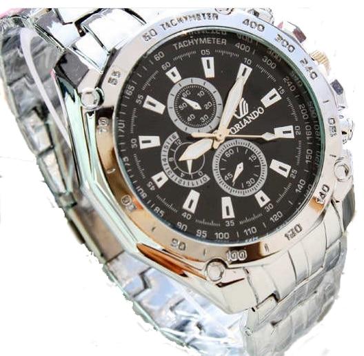 10 pcs lot METAL Orlando Men Watch wristwatch Business Stainless Steel man watch analog quartz New Fashion