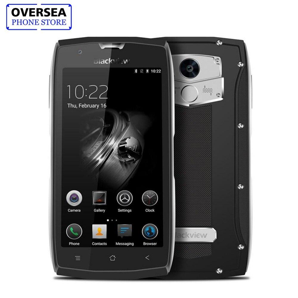 Blackview BV7000 MT6737T Quad Core Android 7.0 Smartphone IP68 Étanche 5.0 ''HD téléphone portable 2 GB RAM 16 GB ROM OTG téléphone portable