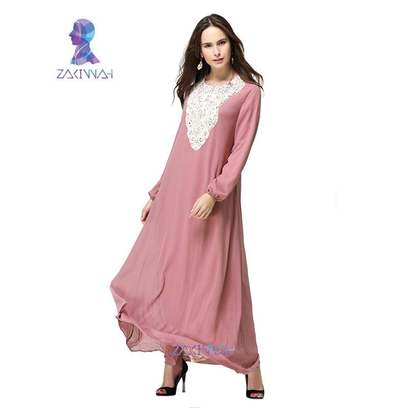 HSZ-10009 ny sommar design muslimsk Chiffon Casual kvinnor plagg plus - Nationella kläder - Foto 5