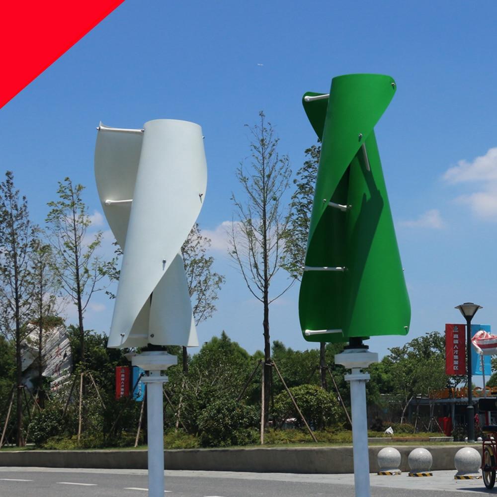 New Windmil 1.3m start up green white orange maglev wind generator 600w 12v 24v vertical axis wind turbine with MPPT controller все цены