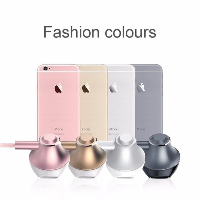 Hot sale Langsdom F9 Metal Phone Earphones Half In-ear Earphone with Microphone Headset Earbuds for phone Xiaomi fone de ouvido