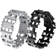 EDC 17 4 Stainless Steel Outdoor 29 Kinds Of Multi functional ToolS Bracelet Portable Tools Camping