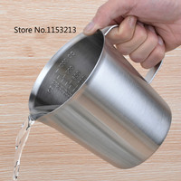 Thickening 304 Stainless Steel Measuring Cup 1000ml Milk Tea Cup Coffee Liquid Measuring Cup With Graduated