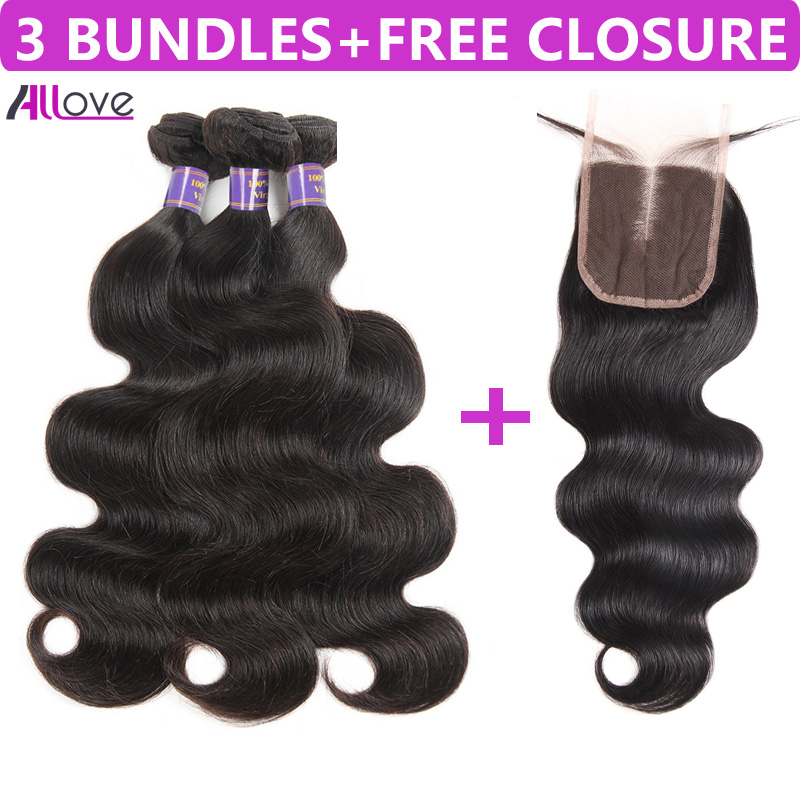 Buy 3 Bundles Hair Get One Free Closure Brazilian Body Wave