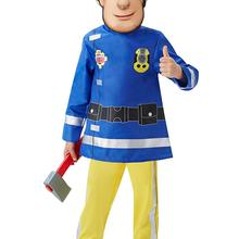 2019 Fireman Sam Children's Fancy Dress Costume Carnival Party Halloween Cosplay Costumes top+pants+mask 3pcs 4-10 Years