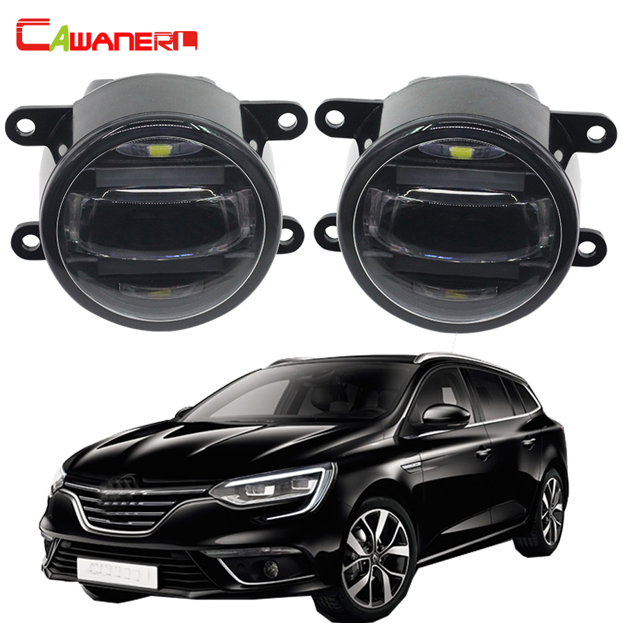 Cawanerl 2 Pieces Car LED Front Fog Light Daytime Running Lamp DRL 12V For Renault Megane III Coupe Grandtour Hatchback mgpm63 200 smc thin three axis cylinder with rod air cylinder pneumatic air tools mgpm series mgpm 63 200 63 200 63x200 model
