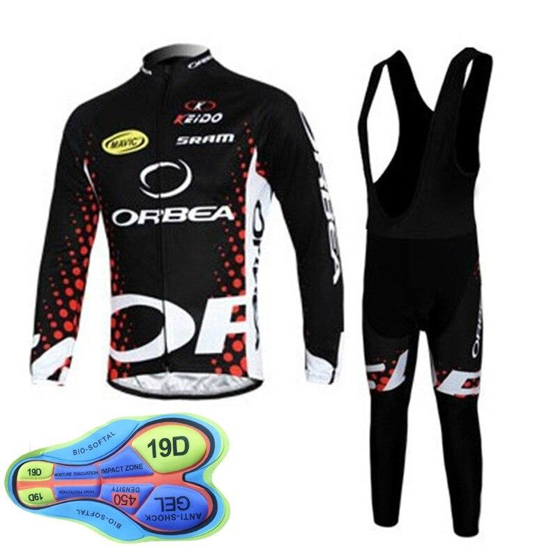0c5510192 2018 Men cycling clothing orbea ropa ciclismo hombre long sleeve bike shirt  19D Gel Pad bib pants set autumn cycling jersey C073 - aliexpress.com -  imall. ...