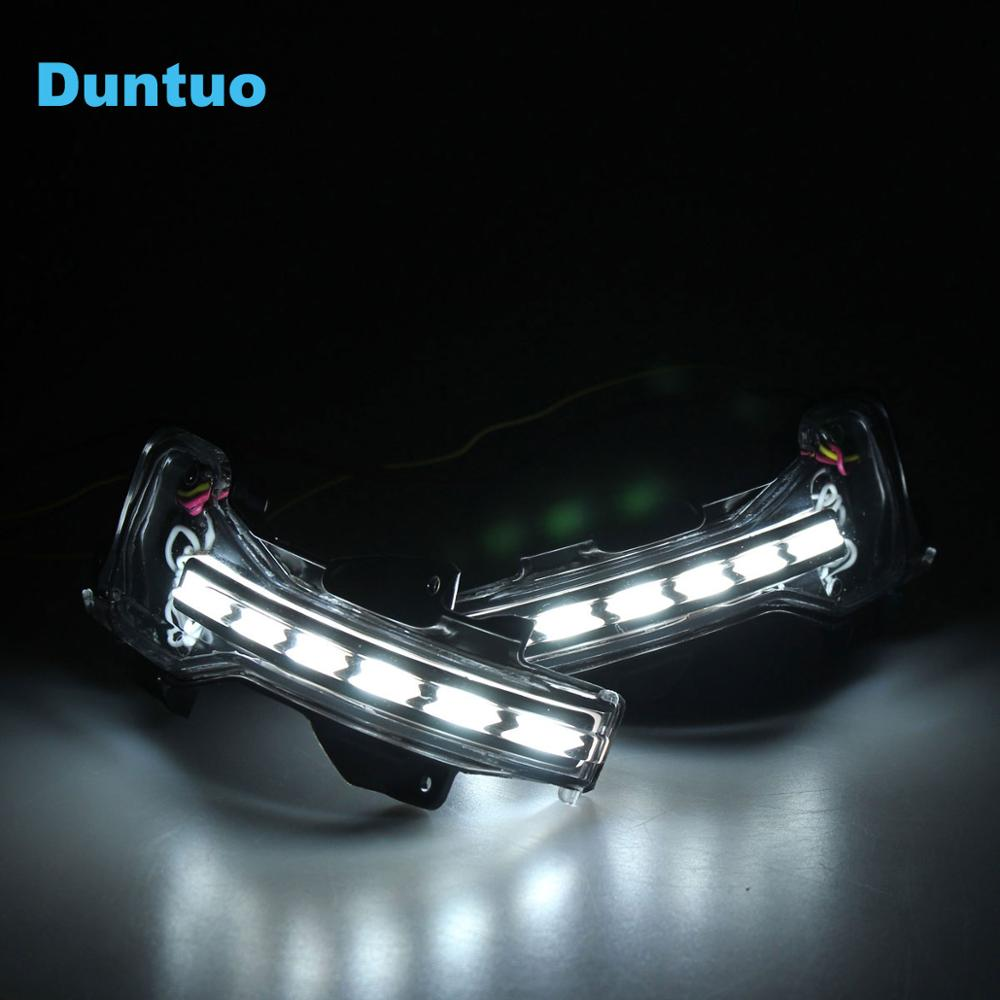 Sequential Flowing Rearview Mirror Light Revolving Dynamic Turn Signal Light Running Lamp For Honda Jazz Fit