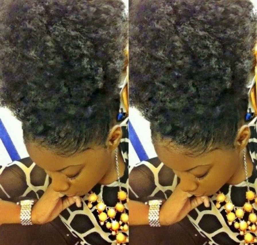 Cute Natural Hair Puff Clip In Kinky Curly Afro Ponytail Hair