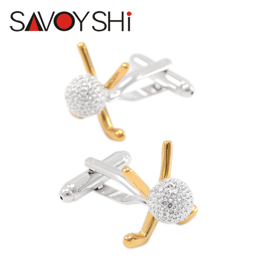 SAVOYSHI Classic <font><b>Golf</b></font> Modeling <font><b>Cufflinks</b></font> for Mens Shirt Cuff bottons High Quality Business <font><b>Cufflinks</b></font> Gift Jewelry Free Shipping image