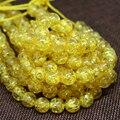 Ouro amarelo âmbar resina charme cera 5mm 6mm 8mm 10mm venda quente rodada soltos espaçadores contas acessórios jóias diy de 15 polegadas B47
