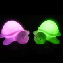Cute Colorful Turtle LED 7 Colours Night Light Lamp Party Christmas Decoration Flashing Toy Gift For Child Baby