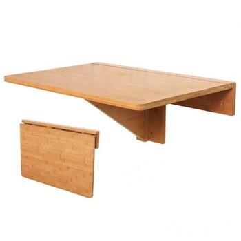 SoBuy FWT031-N Natürliche Bambus Wand-montiert Drop-blatt Tisch, Klapp Küche & Dining Schreibtisch