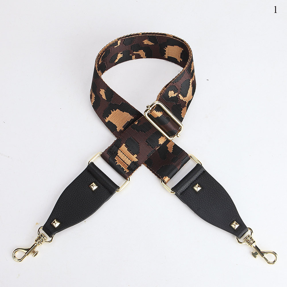 New Canvas 92-138cm Lengthened Leopard Print Bag Belt Elegant Replacement Shoulder Bag Strap Adjustable Leather Bag Accessories